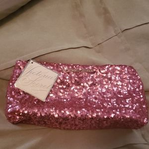 Victoria's Secret Sequin pink clutch new